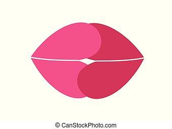 Gentle kiss.