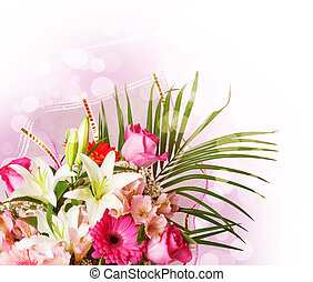 gentle pink and white spring flowers