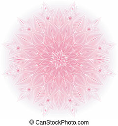 Gentle pink-white frame - Gentle pink and white round floral...