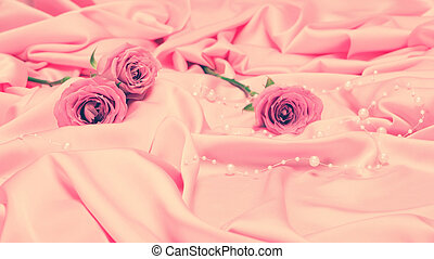 Gentle romantic background with rose flowers
