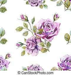 Gentle roses pattern - Beautiful vector pattern with gentle ...