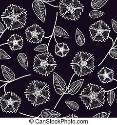 Gentle seamless pattern with abstract flowers.