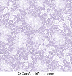 Gentle seamless violet vintage pattern with white...