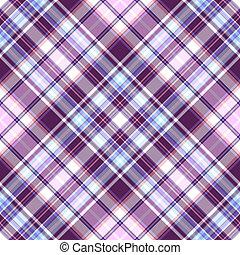 Gentle tartan violet-blue diagonal repeating pattern (vector...