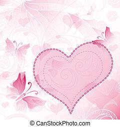 Gentle valentines frame