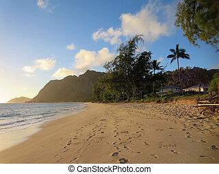 Waimanalo Beach in the early morning light