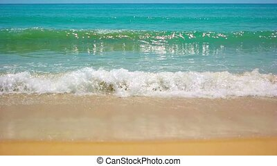 """Gentle Waves on a Pristine, Tropical Beach. FullHD video"""
