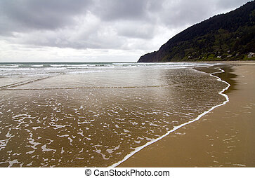 Gentle Waves - Gentle waves lapping the shore in central...
