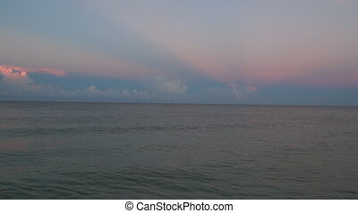 Gentle waves with sound - Morning overlooking the Gulf Of...