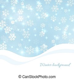 Gentle winter abstract background with falling scatter...