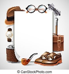 Gentleman Accessories Realistic Frame
