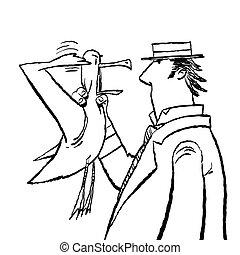 Gentleman and Seagull humor