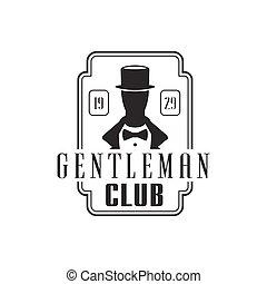 Gentleman Club Label Design