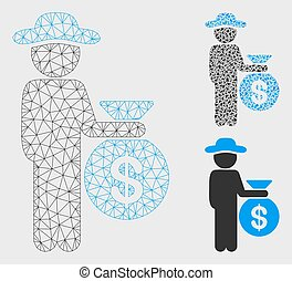 Gentleman Investor Vector Mesh Network Model and Triangle...