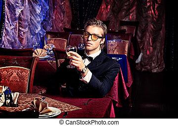 gentleman - Portrait of a handsome groom on his wedding...