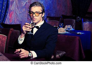 gentleman - Portrait of a handsome groom on his wedding ...