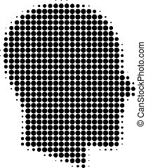 Gentleman Profile Halftone Dotted Icon