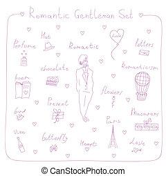 gentleman set - set of objects for a romantic gentleman....