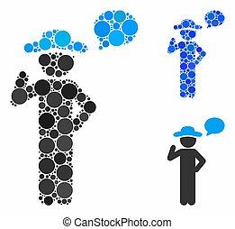 Gentleman speech Composition Icon of Spheric Items - ...