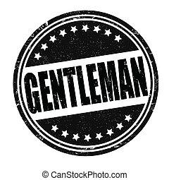 Gentleman stamp - Gentleman grunge rubber stamp on white,...