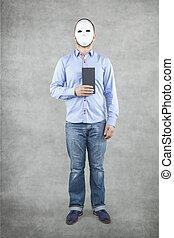 gentleman with envelope