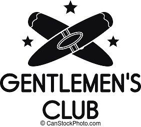 Gentlemen cigar club logo, simple style