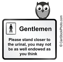 Gents Urinal - Monochrome comical men and toiletry habits ...