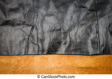 Genuine brown and black leather textures background