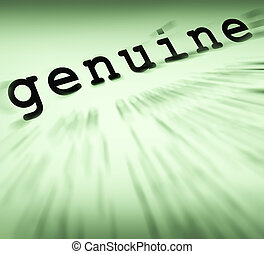 Genuine Definition Displays Certificated Stamp Or Guarantee ...