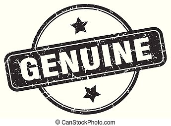 genuine grunge stamp - genuine round vintage grunge stamp