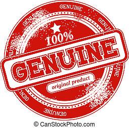 genuine grunge stamp vector