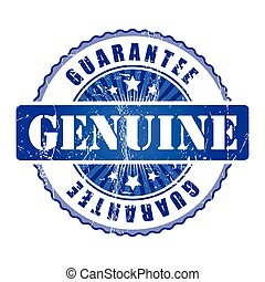 Genuine  Guarantee Stamp.