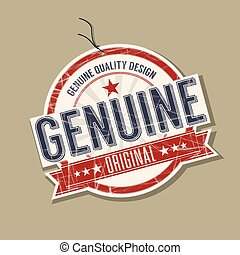 Genuine product tag
