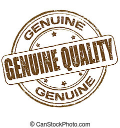Genuine quality grunge office rubber stamp on white background, vector illustration