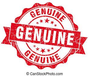 Genuine red grunge stamp