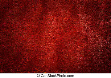 Genuine red leather background, pattern, texture. Natural ...