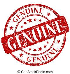 GENUINE red stamp