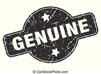 genuine round grunge isolated stamp