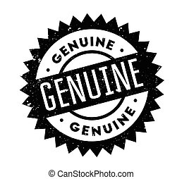 Genuine rubber stamp