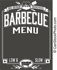 Genuine Southern Barbecue Menu - Template for barbecue ...