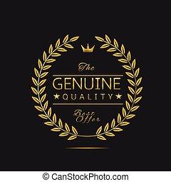 genuino, qualità, etichetta