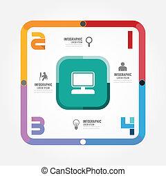 genummerde, zijn, gebruikt, moderne, /, ontwerp, groenteblik, mal, infographics