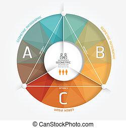 genummerde, zijn, stijl, gebruikt, opmaak, moderne, /, infographic, website, banieren, vector, ontwerp, groenteblik, mal, infographics, grafisch, geometrisch, of, minimaal