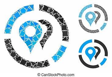 Geo diagram Mosaic Icon of Joggly Pieces