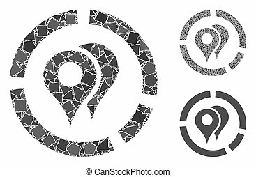 Geo diagram Mosaic Icon of Rugged Parts