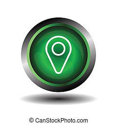 geo, indicateur, emplacement, épingle, icône