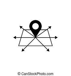 Geo location outline icon. Symbol, logo illustration for mobile concept and web design.
