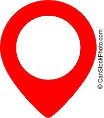 Geo location pin marker
