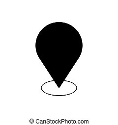 Geo tag outline icon. Symbol, logo illustration for mobile concept and web design.