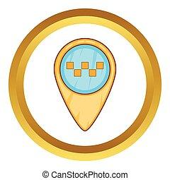 Geo taxi vector icon